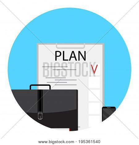 Business plan and project planning process idea vector illustration
