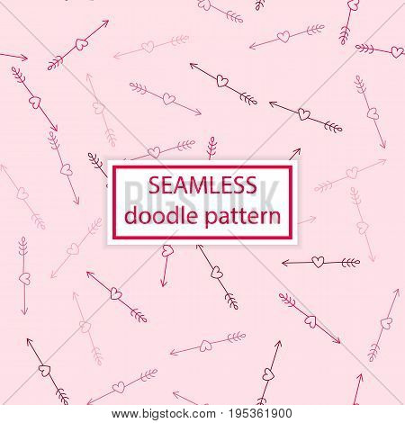 Vector Seamless Pattern. Hand Drawn,doodle,ink, Grunge Background. Simple Design Template.