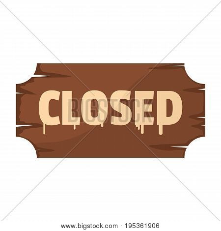 Wooden signboard with text closed for your design vector illustration isolated on white background wooden sign for city advertising