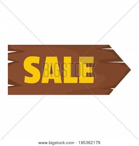 Wooden signboard with text sale for your design vector illustration isolated on white background Wooden sign for city advertising