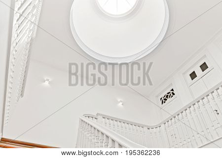 A Beautiful and Bright Classic Stairwell Skylight