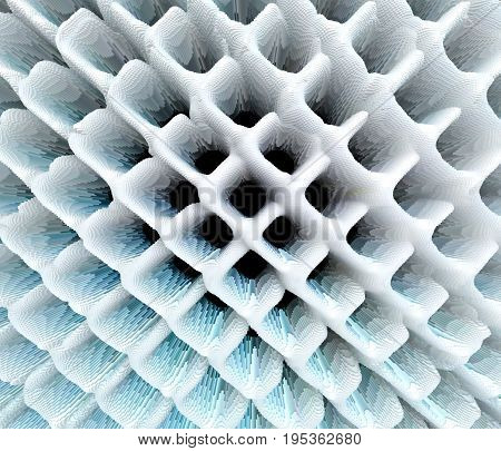Abstract Extruded Grid Pattern 3D Illustration