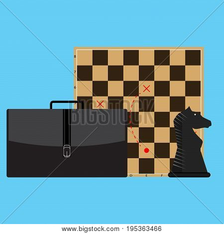Tactic and strategy in business. Vector plan strategy concept business strategy marketing illustration of strategic planning