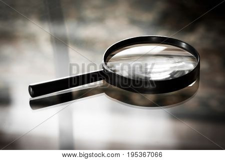 Magnifying Glass Closeup