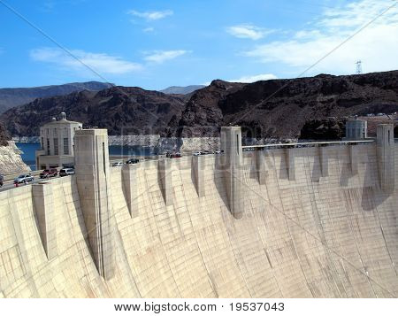 Hoover Dam and Lake Mead near Las Vegas, Nevada.