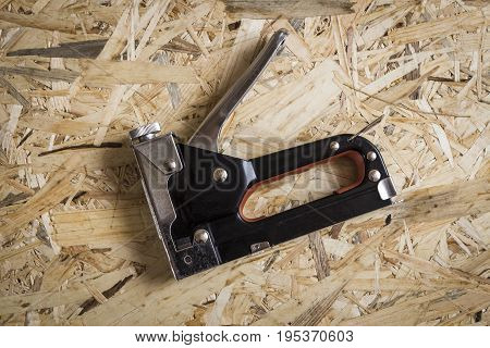 Building Stapler Close-up