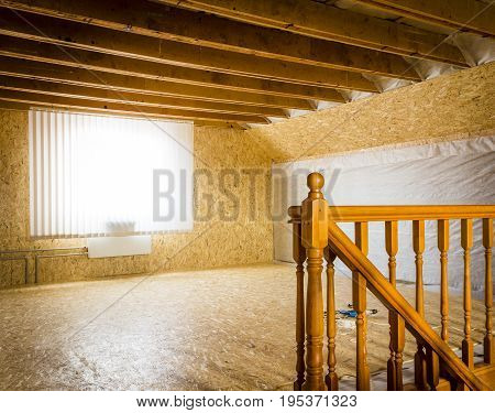 Repair of the second floor of a private house.