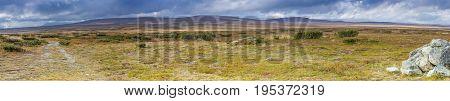 A panorama of the Flatruet a Swedish high plateau.