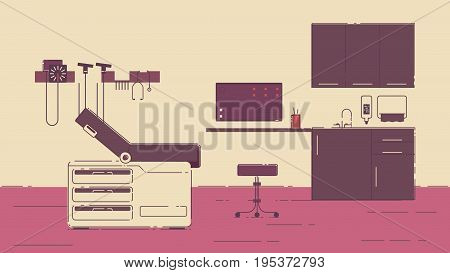 Illustration of a doctor office illustration hospital