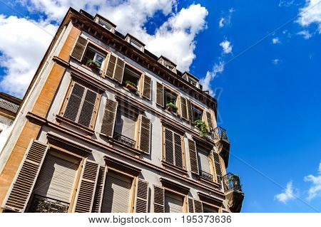 Classic historical architecture of Strasbourg city Alsace France