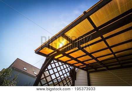 The Roof Of The Veranda Of Polycarbonate