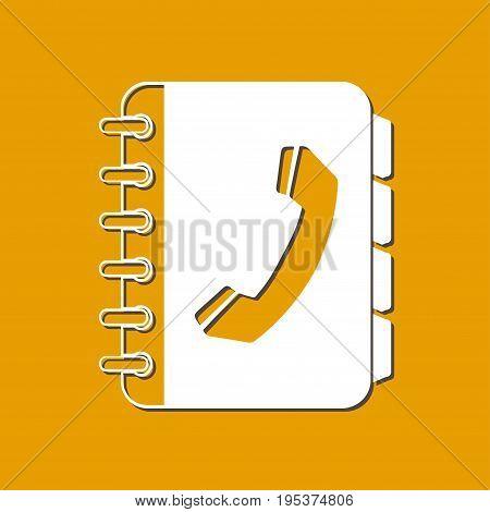 Phone book flat icon. Flat design style.