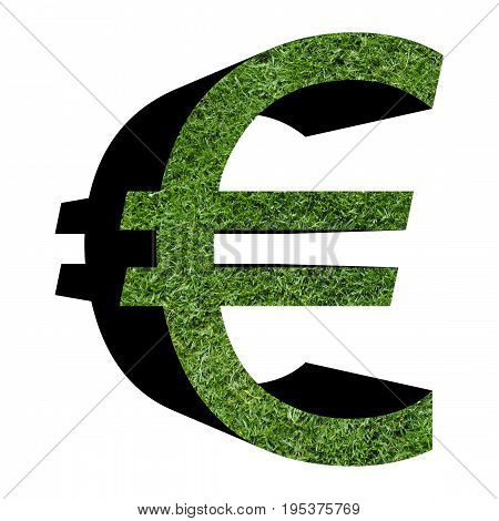Green Business Symbol Isolated Over White