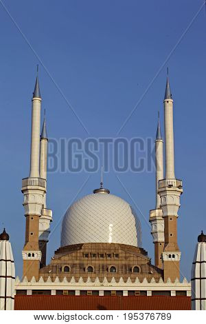 The Great Mosque at Semarang Regency Indonesia