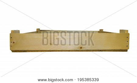 Wooden Box Empty Isolated. Case Of Wooden Boards For Vegetables And Fruits