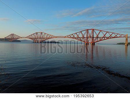 Edinburgh road bridge. Edinburgh, Scotland - May 25, 2017 Modern road bridge over the River Water of Leith in Edinburgh.
