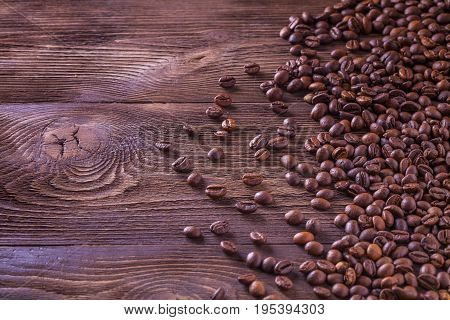 Roasted Coffee Beans Background Texture