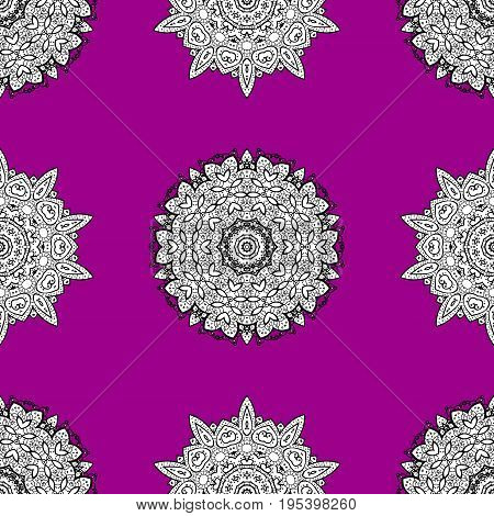Seamless element woodcarving. Furniture in classic style. Luxury furniture. Carving. Pattern on magenta background with white elements. Small depth of field. Patina. Magenta backdrop with white trim.