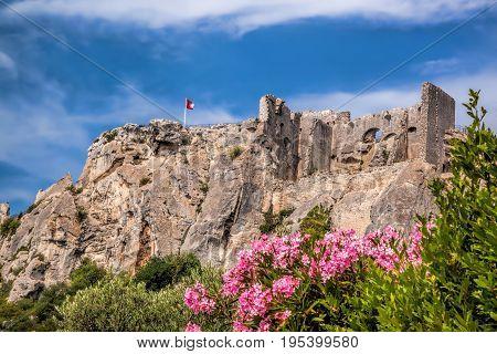 Famous Les Baux-de-Provence castle in Provence France