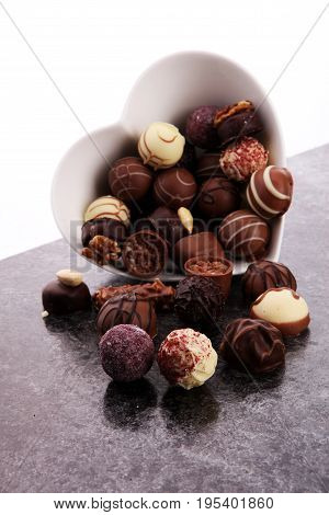 A Lot Of Variety Chocolate Pralines, Belgian Confectionery Gourm