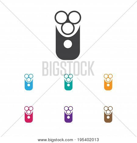 Vector Illustration Of Coiffeur Symbol On Electric Shaver Icon. Premium Quality Isolated Cutter Apparatus  Element In Trendy Flat Style.