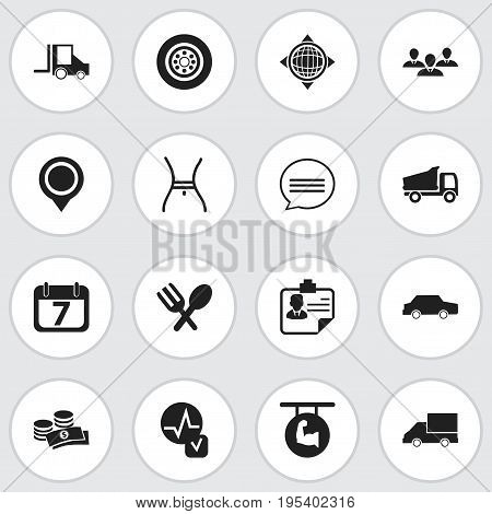 Set Of 16 Editable Complex Icons. Includes Symbols Such As Position, Belly, Biceps And More. Can Be Used For Web, Mobile, UI And Infographic Design.