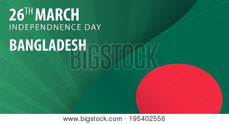 Independence Day Of Bangladesh. Flag And Patriotic Banner. Vector Illustration.