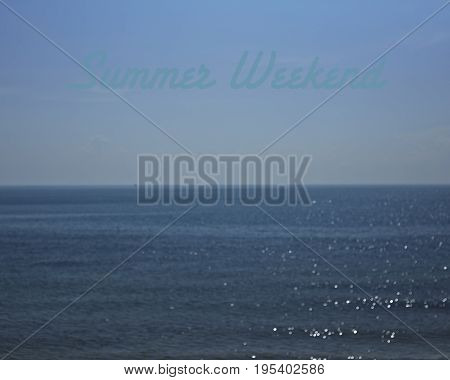 Beautiful Seascape Sea Horizon And Blue Sky