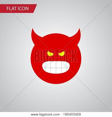 Isolated Angry Flat Icon. Pouting Vector Element Can Be Used For Pouting, Angry, Smile Design Concept.