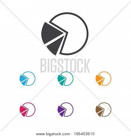 Vector Illustration Of Analytics Symbol On Segment Icon. Premium Quality Isolated Pie Graphic Element In Trendy Flat Style.