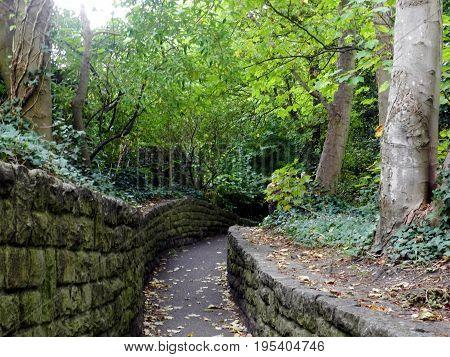 Walk paths around the Christchurch Priory, Dorset