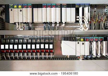 The PLC ComputerPLC programable logic controler for control device or process by scada system.