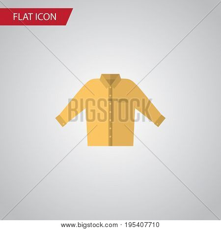 Isolated Shirt Flat Icon. Banyan Vector Element Can Be Used For Shirt, Banyan, Man Design Concept.