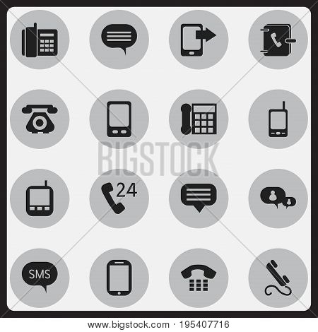 Set Of 16 Editable Gadget Icons. Includes Symbols Such As Tablet, Transceiver, Mobile And More. Can Be Used For Web, Mobile, UI And Infographic Design.