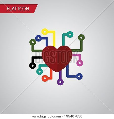 Isolated Feeling Flat Icon. Emotion Vector Element Can Be Used For Emotion, Feeling, Heart Design Concept.