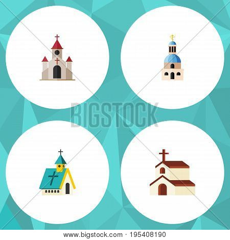 Flat Icon Church Set Of Church, Traditional, Architecture And Other Vector Objects. Also Includes Traditional, Church, Architecture Elements.