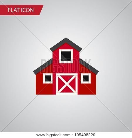 Isolated Greenhouse Flat Icon. Storehouse Vector Element Can Be Used For Greenhouse, Barn, Storehouse Design Concept.