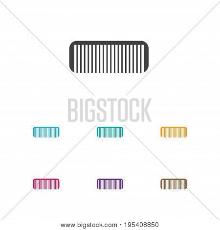 Vector Illustration Of Coiffeur Symbol On Comb Icon. Premium Quality Isolated Hairbrush Element In Trendy Flat Style. poster