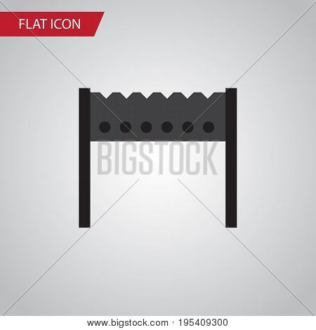 Isolated Brazier Flat Icon. Barbecue Vector Element Can Be Used For Barbecue, Brazier, Bbq Design Concept.