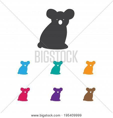 Vector Illustration Of Zoology Symbol On Koala Icon. Premium Quality Isolated Australian Bear Element In Trendy Flat Style.