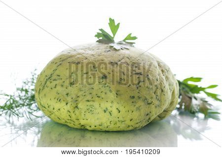Green Dough With Dill And Parsley