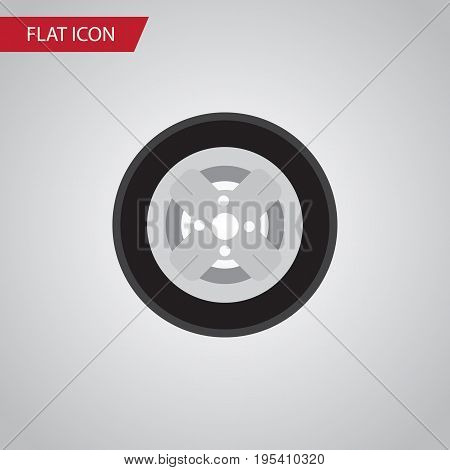 Isolated Wheel Flat Icon. Tire Vector Element Can Be Used For Tire, Wheel, Car Design Concept.