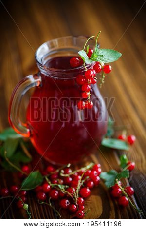 Fresh Compote Of Ripe Red Currant