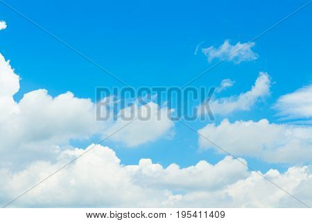 Blue Sky And Clouds background. peaceful sky and cloud in good weather day. Sky And Clouds in day time.