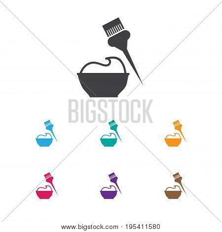 Vector Illustration Of Barber Symbol On Dyeing Icon. Premium Quality Isolated Bucket Element In Trendy Flat Style.