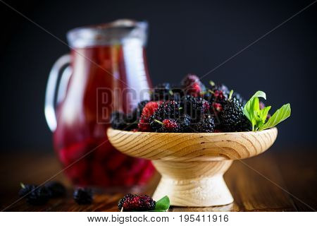 Ripe Mulberry And Compote