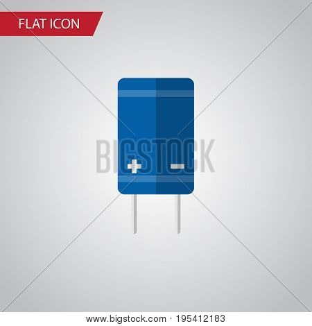 Isolated Receiver Flat Icon. Transistor Vector Element Can Be Used For Electronics, Transistor, Set Design Concept.