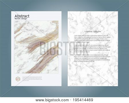 Creative cover design layout template, Marble texture background, Inspiration for your design to brochure, annual report, flyer, magazine, poster, corporate presentation, portfolio, banner, website, Easy to use and edit.