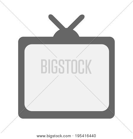 Tv icon on grey background. Television, Vector illustration EPS 10.