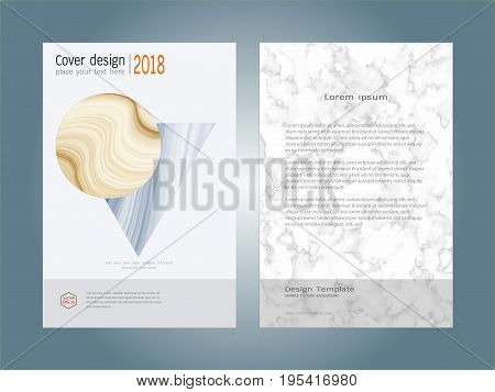 Creative cover design layout template, Inspiration for your design to brochure, annual report, flyer, magazine, poster, corporate presentation, portfolio, banner, website, Easy to use and edit.